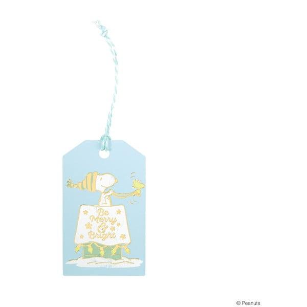 Sada 6 menoviek na darčeky Butlers Be Merry, 9 x 5,5 cm