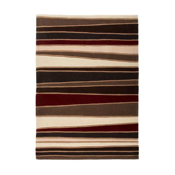Koberec Flair Rugs Streak Brown/Red, 160 x 230 cm