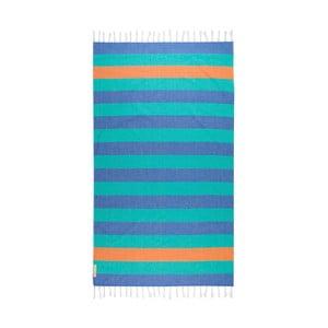Modrá hammam osuška Begonville Terry, 180×100 cm