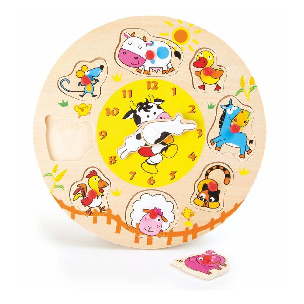 Drevená hračka Legler Clock And Puzzle