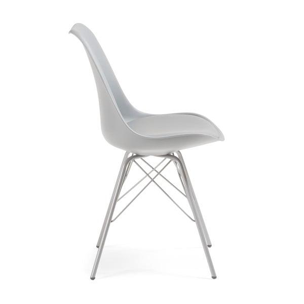 Sivá stolička s kovovou podnožou La Forma Lars