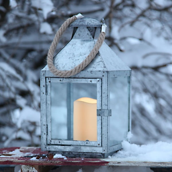 LED lampáš Amy, pozinkovaný