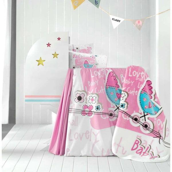 Set detských obliečok, plachty a deky Lovely Baby, 100x150 cm