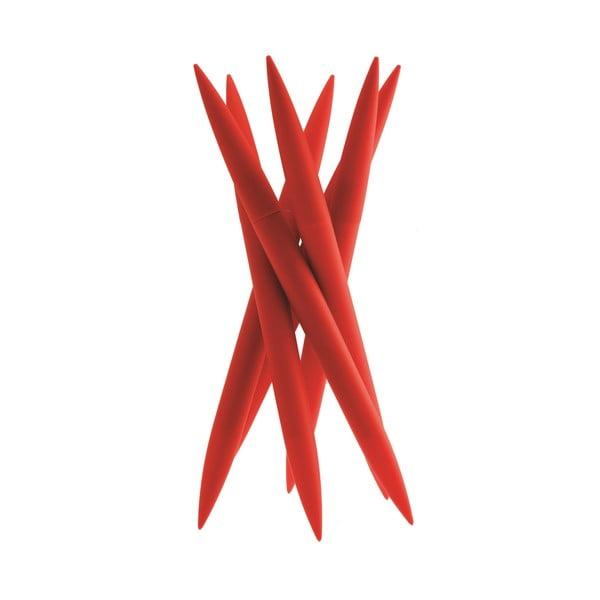 Stojan so 6 nožmi Magnum Red