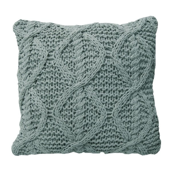 Svetlomodrý pletený vankúš OVERSEAS, 45x45cm