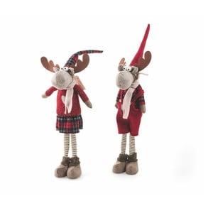 Sada 2 vianočných dekoratívnych sošiek Villa d'Este Troll Renna Rosso