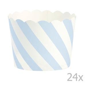 Sada 24 košíčkov na pečenie Miss Étoile Blue Diagonal