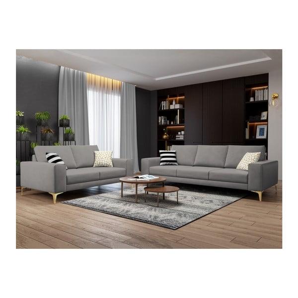 Sivá dvojmiestna pohovka Cosmopolitan Design Basel