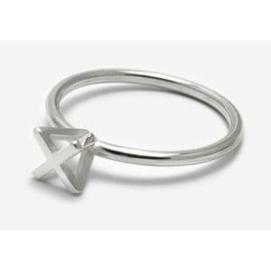 Strieborný prsteň Bepart Triangle Square Rock, veľ. 53