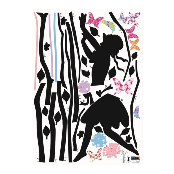 Samolepka Ambiance Young Girl And Tree