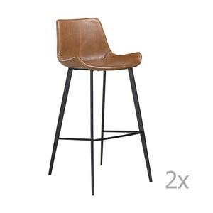 Sada 2 hnedých barových stoličiek DAN– FORM Hype
