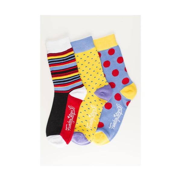 Sada 3 párov unisex ponožiek Funky Steps Errita, veľkosť 39/45
