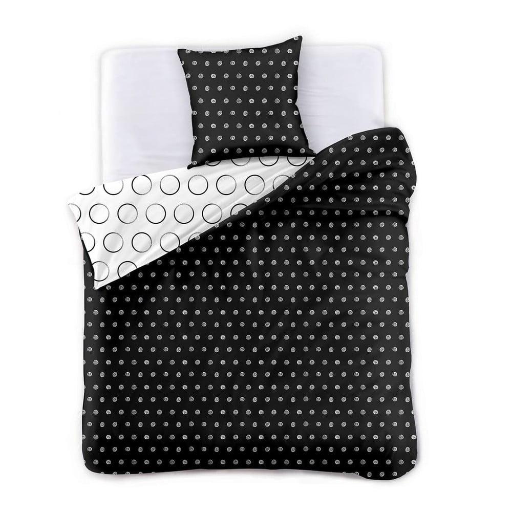 Obojstranné obliečky na jednolôžko z mikrovlákna DecoKing Hypnosis Dark Night, 220 x 155 cm