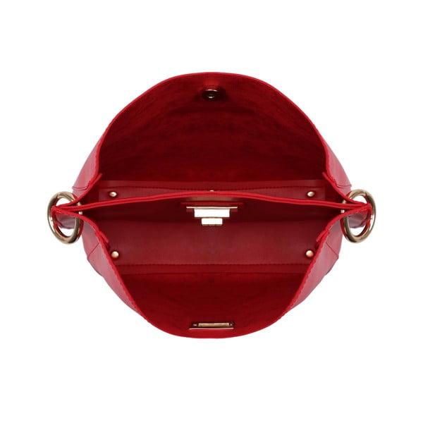Červená kožená kabelka Beverly Hills Polo Club Eliana