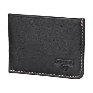 Čierna kožená peňaženka na karty Stanley Tools Card