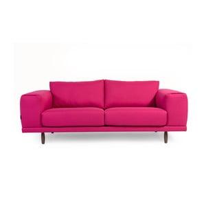 Ružová trojmiestna pohovka Charlie Pommier Relax