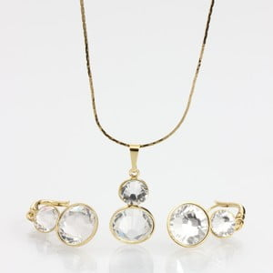 Set Laura Bruni so Swarovski Elements Crytal Golden