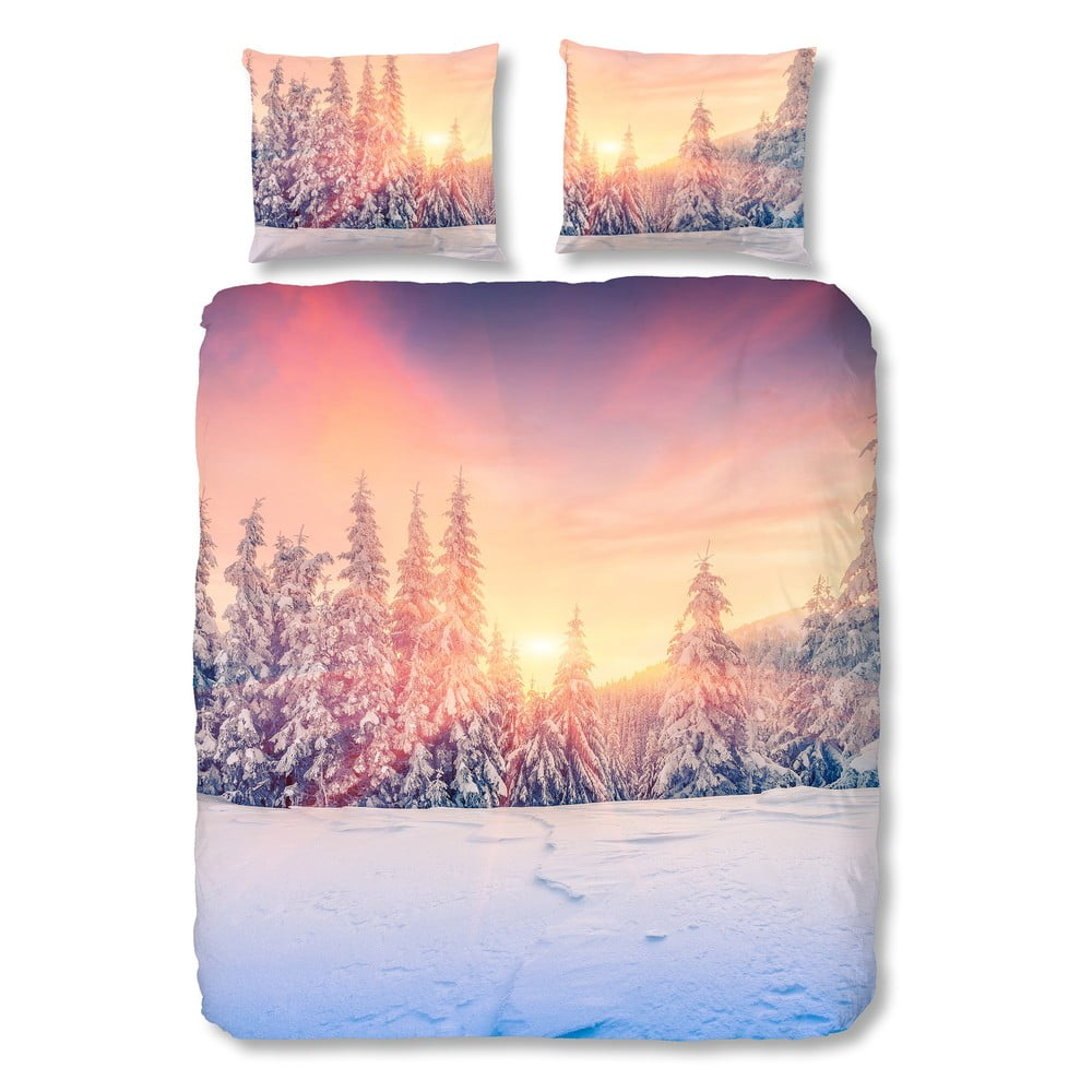 Obliečky na dvojlôžko Muller Textiels Snow, 200 × 200 cm