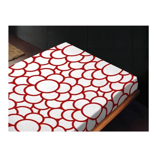 Neelastická posteľná plachta Moa Rojo, 180x260 cm