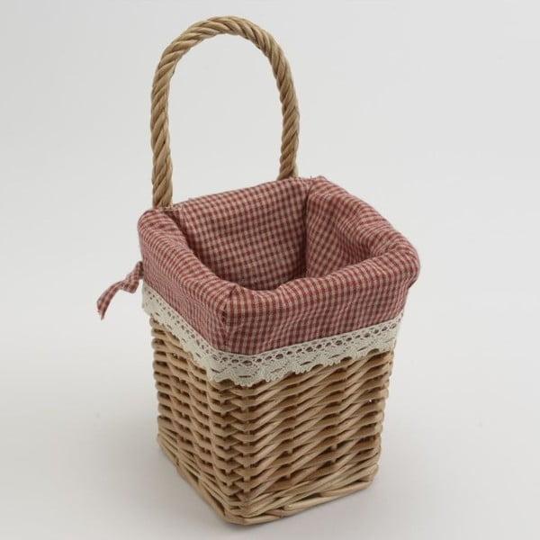Prútený košík Red Vichy Small