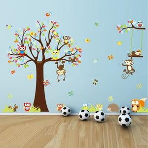 Sada samolepiek Ambiance Cute Monkeys Playing On Trees