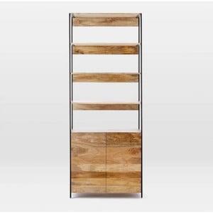 Knižnica z masívneho mangového dreva Massive Home Jenny, 90 x 213 cm