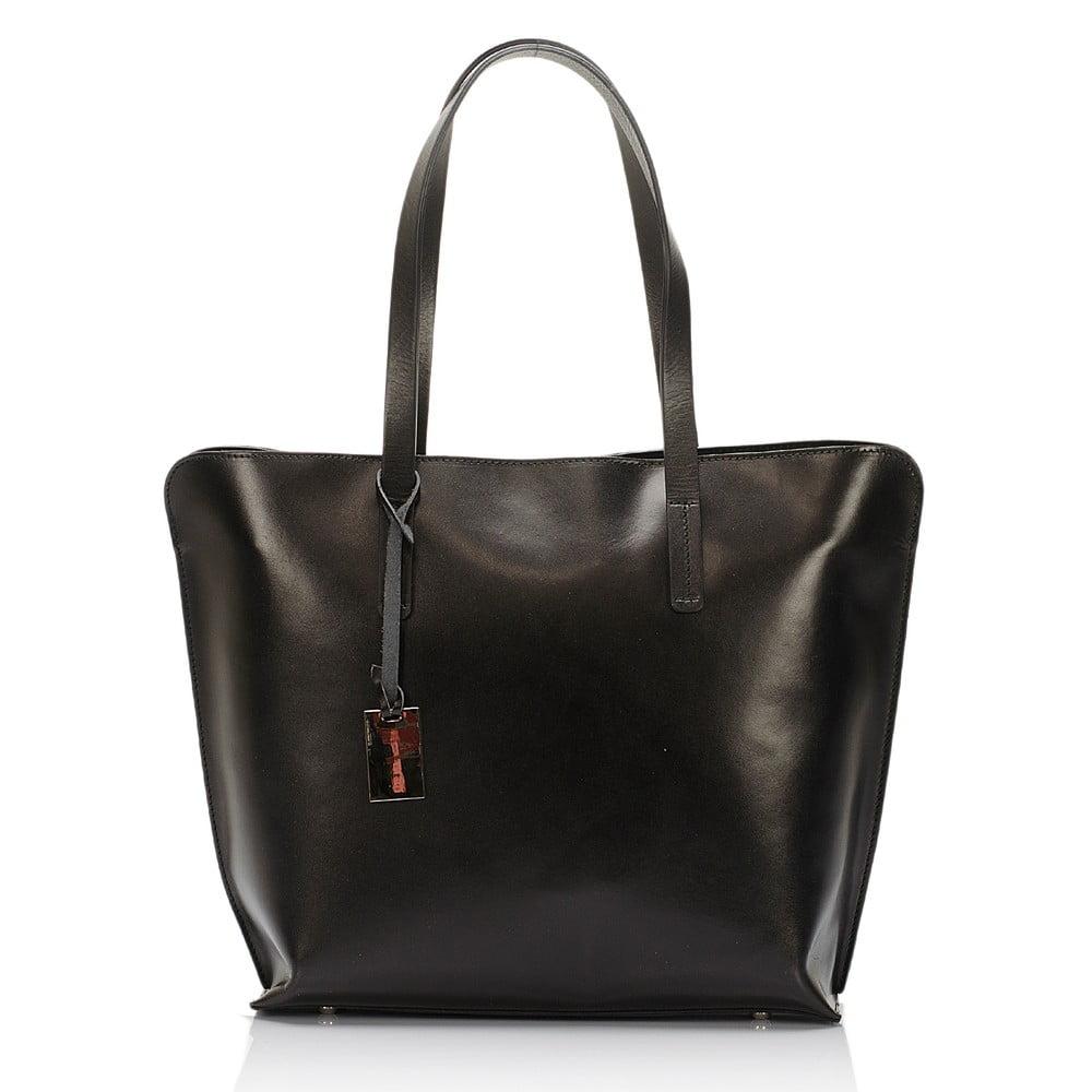 461c6375f123 Čierna kožená kabelka Giorgio Costa Gerogina