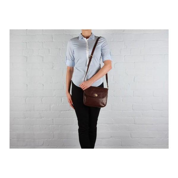 Kožená taška Gabrielle Conker Brown