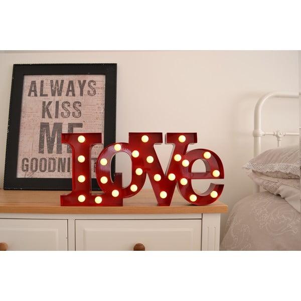 Dekoratívne svetlo Carnival Love, červené