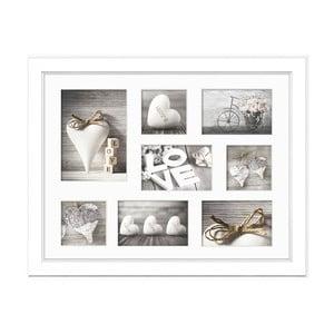 Biely rámik na 8 fotografií Styler Galeria Malmo, 41 × 51 cm