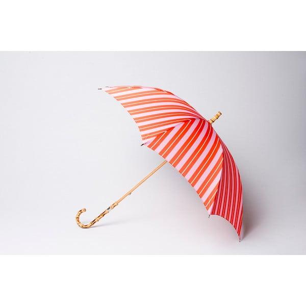 Dáždnik Stripe, oranžovo-ružový
