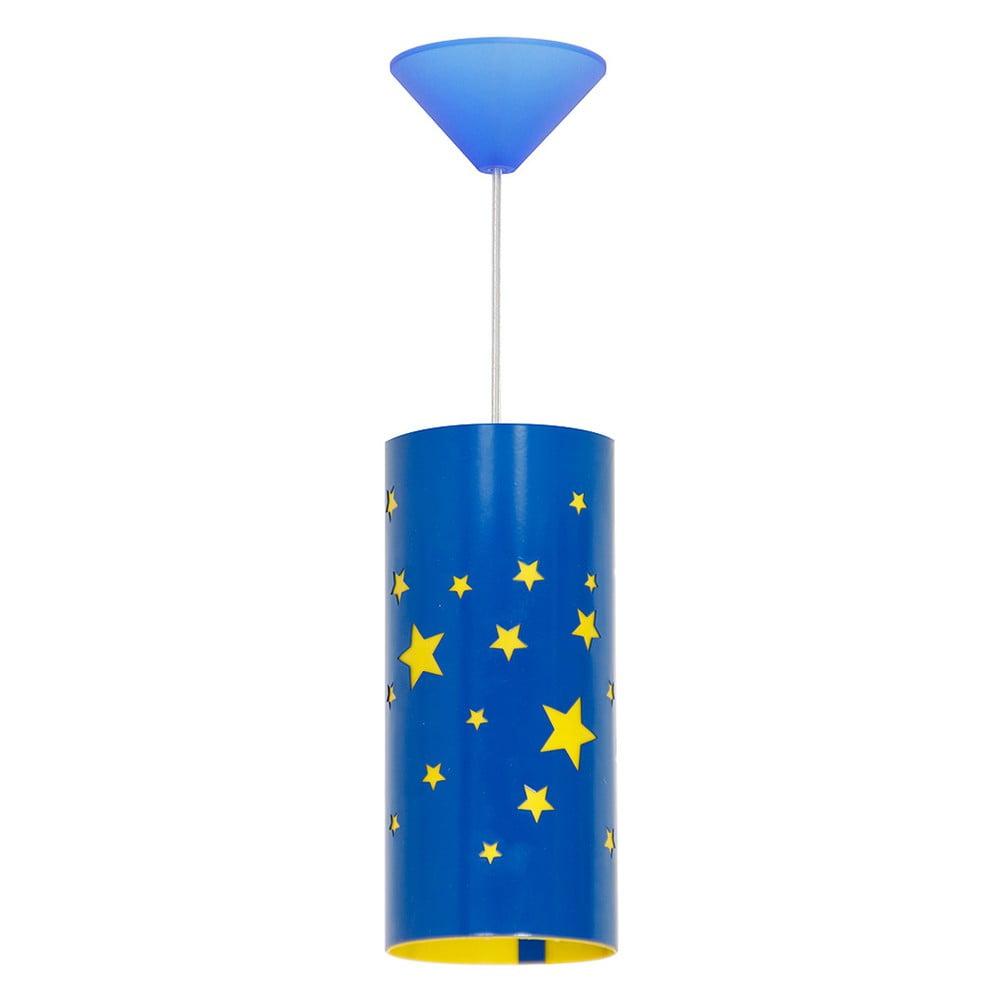 Modré závesné svietidlo Glimte Stars Small