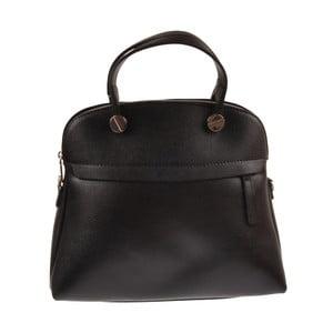 Čierna kožená kabelka Florence Bags Yutz