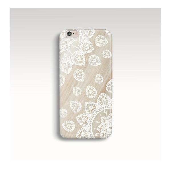 Obal na telefón Wood Mandala White pre iPhone 5/5S