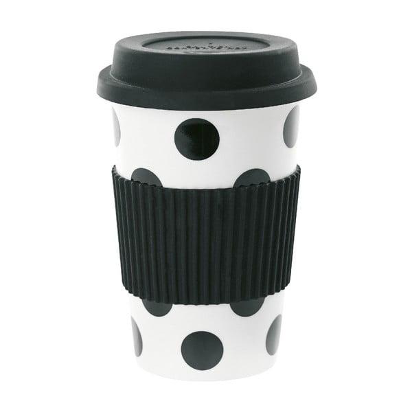 Keramický cestovný hrnček Black Dots, 0,5 l