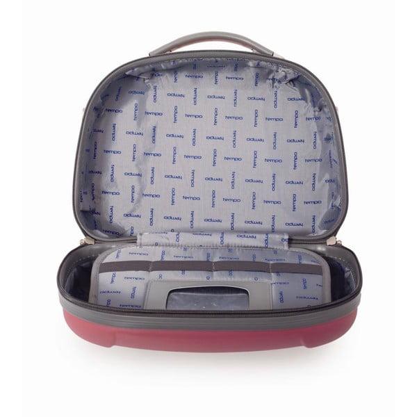 Červený cestovný kozmetický kufrík Tempo