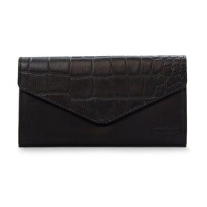 Čierna kožená peňaženka O My Bag Pixies
