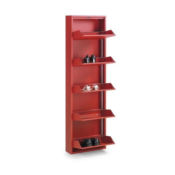 5-dielna skrinka na topánky Zapatero, červená