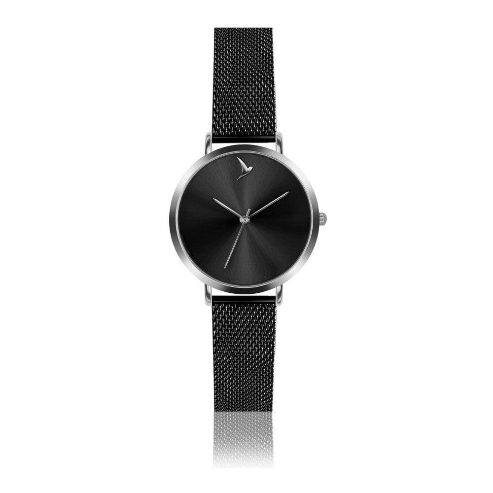 4e8c91039ec Dámske hodinky s čiernym remienkom z antikoro ocele Emily Westwood Black