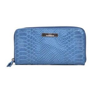 Modrá kožená listová kabelka Mangotti Bags Zuna
