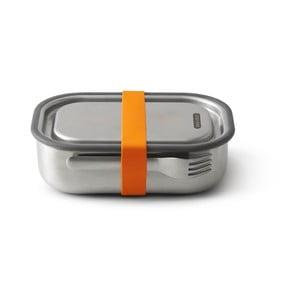 Desiatový box z antikoro ocele s oranžovým remienkom Black + Blum