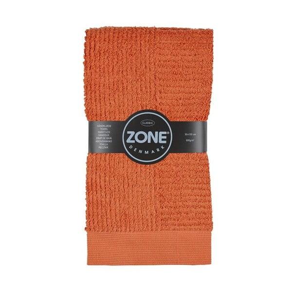 Oranžový uterák Zone, 100x50 cm