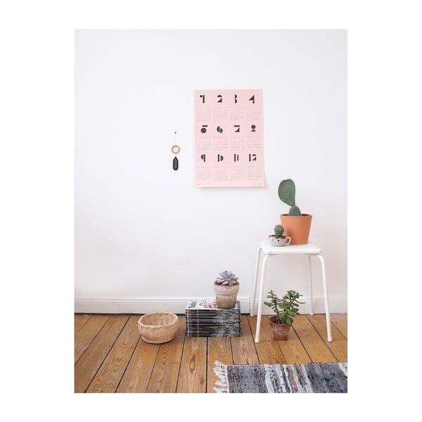 Nástenný kalendár SNUG.Toy 2016, ružový