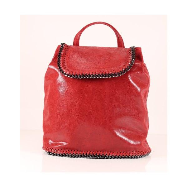 Kožený batôžtek Emily, červený
