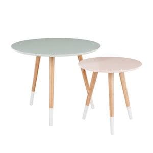 Sada 2 odkladacích stolíkov Vintage Table, 60x60 cm/40x40 cm