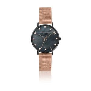 Dámske hodinky s remienkom z antikoro ocele v ružovozlatej farbe Emily Westwood Noir