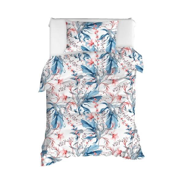 Obliečky na jednolôžko z ranforce bavlny Mijolnir Doris White, 140 × 200 cm