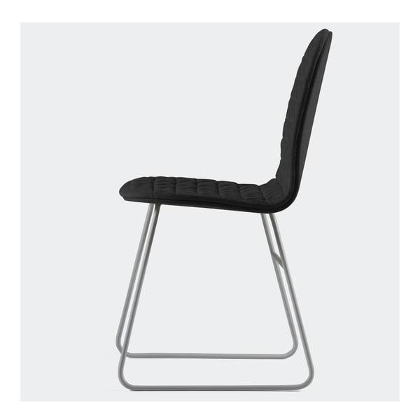 Stolička Mannequin Triangel, čierna