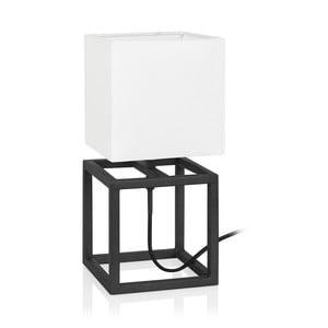 Čierno-biela stolová lampa Markslöjd Cube, 15 x 15 cm
