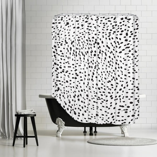 Kúpeľňový záves Lots Of Spots, 180x180 cm